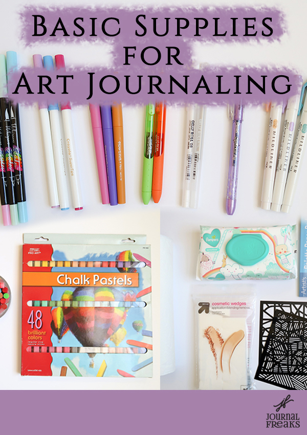 Basic Supplies For Art Journaling