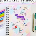 My Favorite Things Page | Art Journaling for Beginners